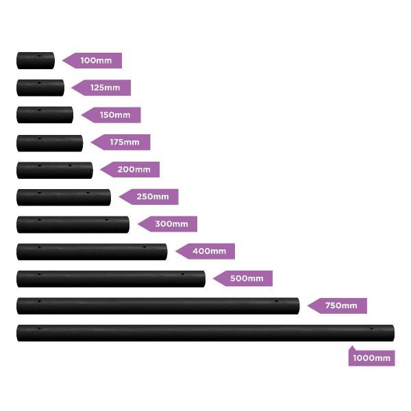 X-Pole Verlängerung Silikon Black